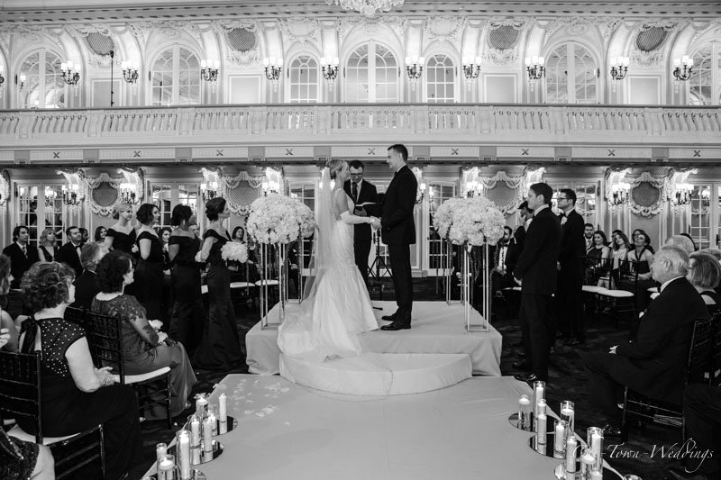 Bride and Groom holding hands during the cermoney