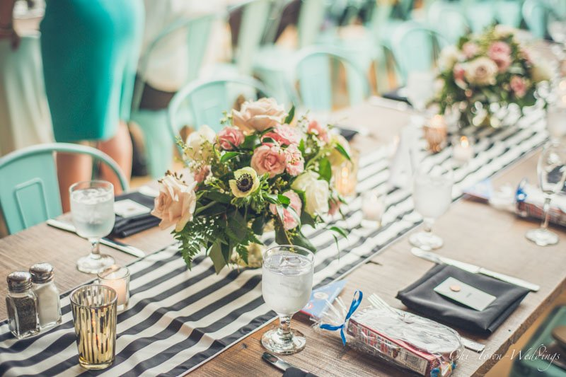 Wedding flowers and table details