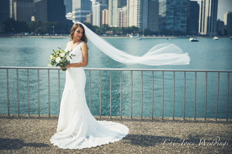 www.Chi-Town-Weddings.com Bride olive Park chicago