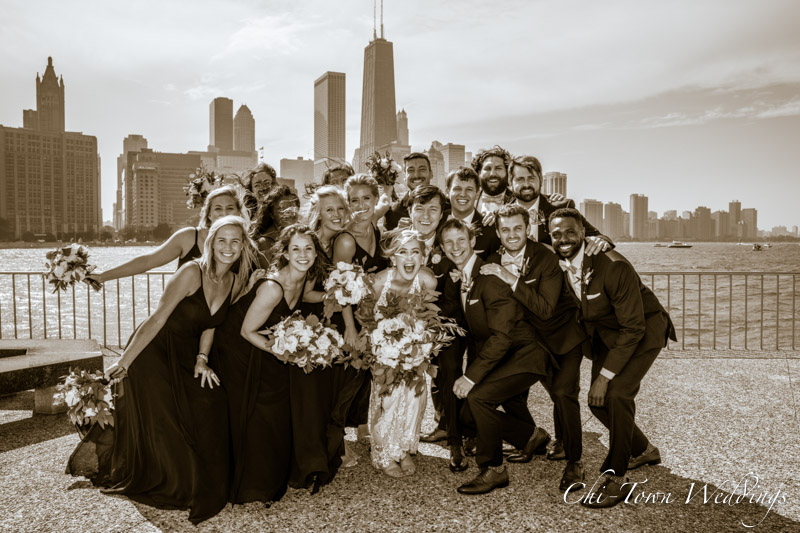 www.Chi-Town-Weddings.com  Wedding Party olive park chicago