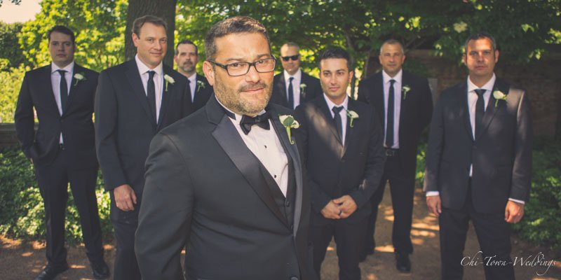 Groomsmen posing looking cool